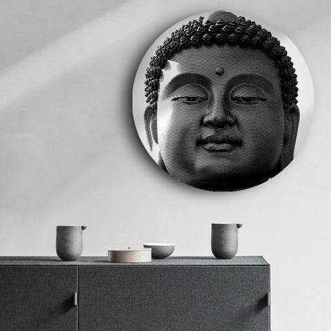 Tranquil Eyes of Buddha Canvas