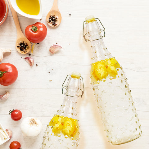 Bohemian Clear Dotted Bottle - The Artment