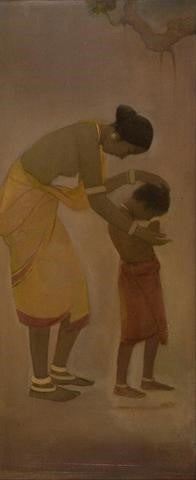 The Kalighat style paintings by Jamini Roy