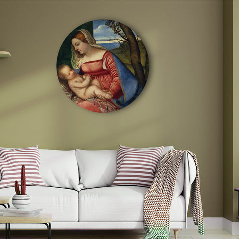 Baby Christ and Madonna Canvas