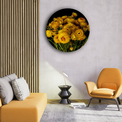 Yellow Mums of Fall Canvas
