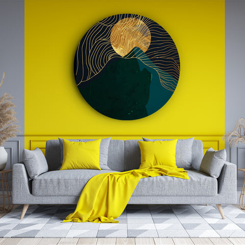 Mysterious Emerald and Gold Canvas