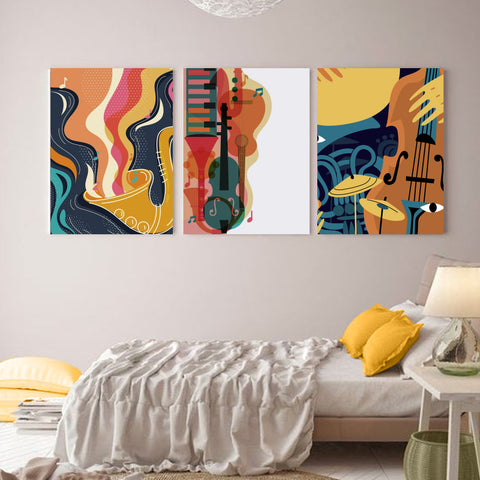 Cheerfully Musical World Canvas
