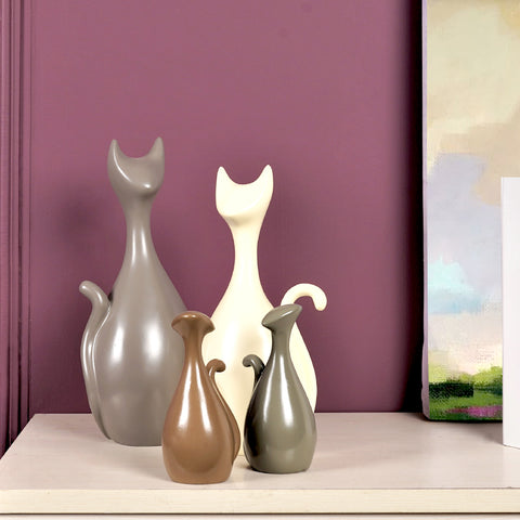 Modern Art Family of Cats Table Accents