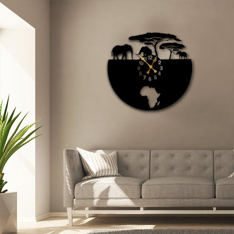 Surreal Jungles of Africa Wall Clock