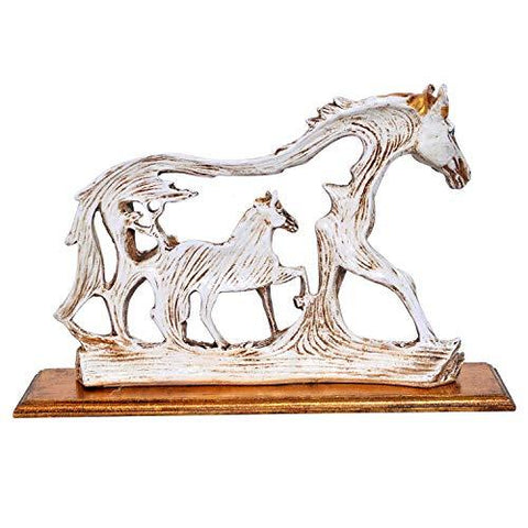 Feng Shui Galloping Horse Showpiece with Wooden Base