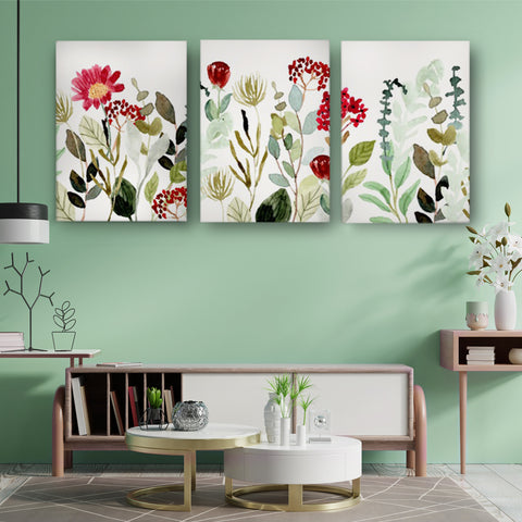 Surrounded by Bright Flowers Canvas