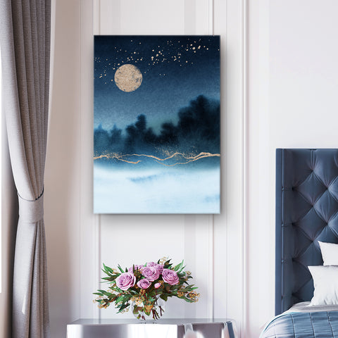 Mystical Blues of the Night Canvas