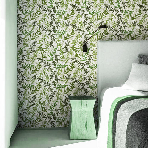 Leafy Life Printed Textured Self Adhesive Mural Wallpaper