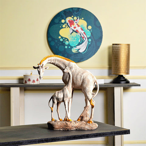 Feng Shui Baby and Mom Giraffe Table Accent