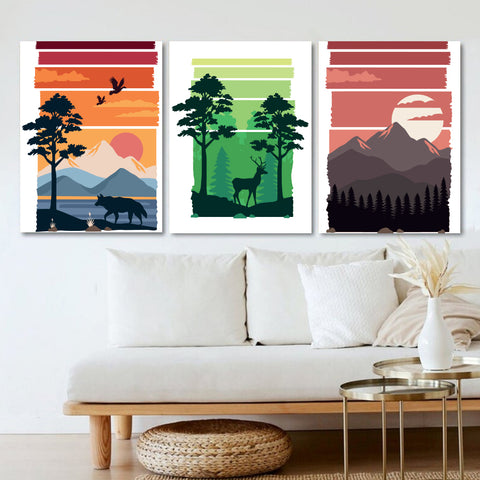 Vividly Painted Landscape Canvas