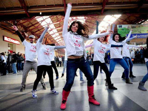 A snapshot of a flash mob