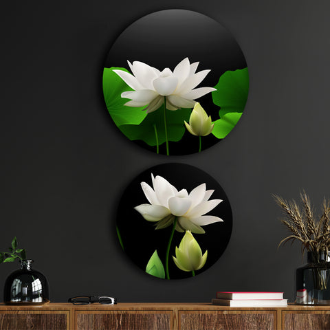 Lotus Beaming with Positivity Canvas