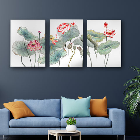 Blooming of the Glorious Lotus Canvas