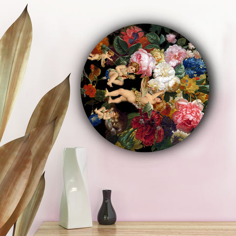 Angels Surrounded By Roses Canvas