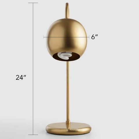 Art Deco Gold Scoop Night Lamp