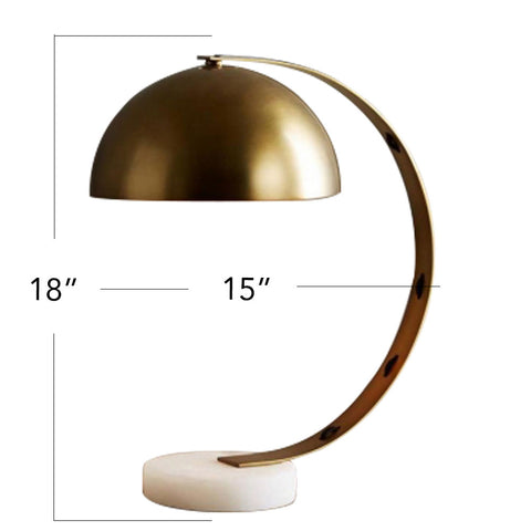 Vintage Brass C-Lamp - The Artment