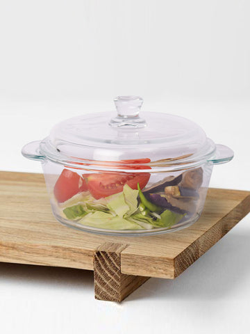Clear Casserole for table