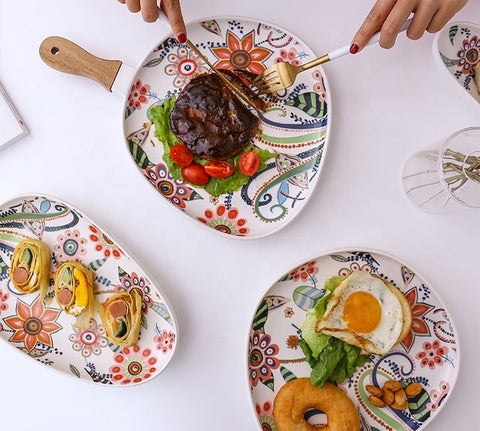 The Artment spring floral platter
