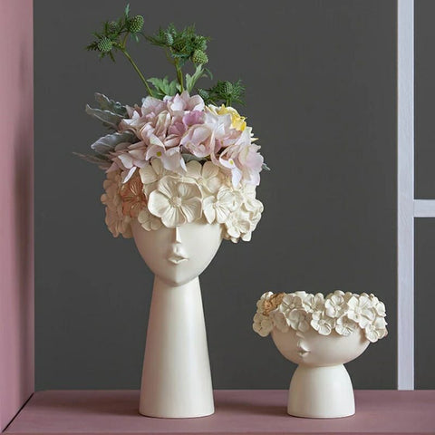 Surreal Faces Table Planters