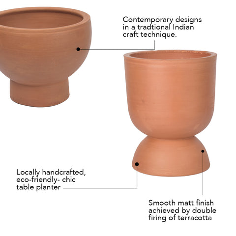 Rivaayat Terracotta Goblet Planter - Small