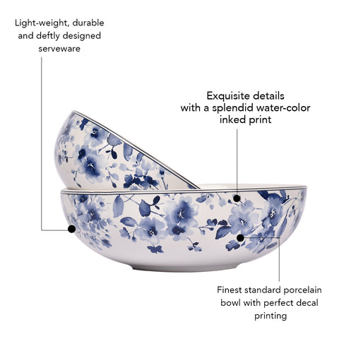 Lapiz Ink Cereal Bowl (Set of 2)
