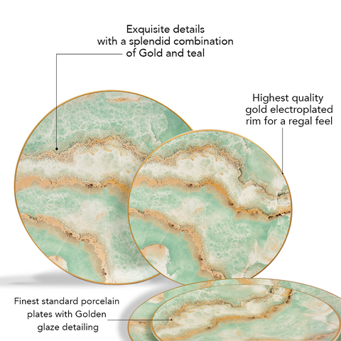 Surreal Luxury Majestic Earth Plate Set (Dinner and quarter plate set)