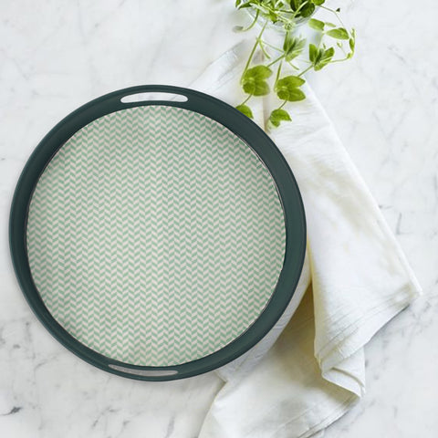 Minimalist Teal Serving Tray - The Artment