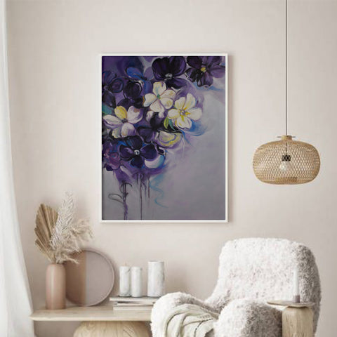 Violet Valley Flowers Wall Art