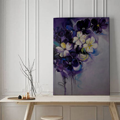 Violet Valley Flowers Wall Art - The Artment
