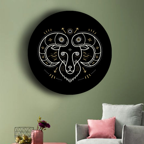 black-and-gold-zodiac-canvases-aries
