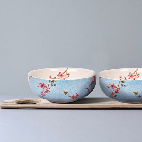 Azure Ixora Cereal Bowls (Set of 2) - The Artment