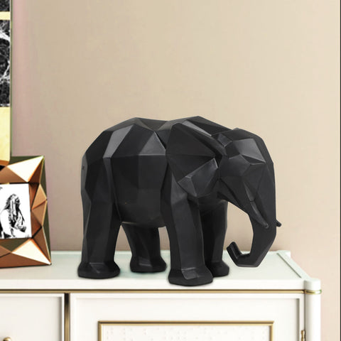 Adorably Geometric Elephant Table Accent