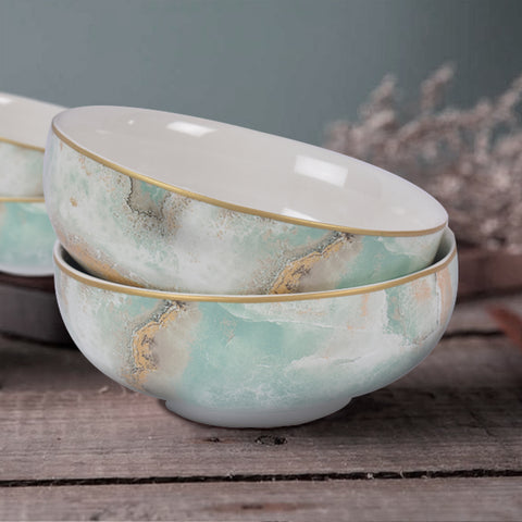 Surreal Luxury Majestic Earth Cereal Bowls (Set of 6)