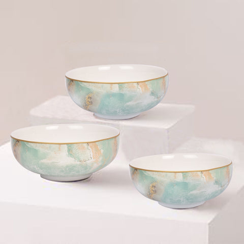 Surreal Luxury Majestic Earth Cereal Bowls (Set of 2)