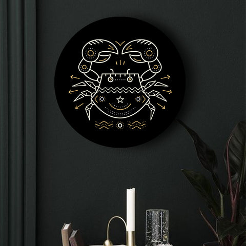 Black and Gold Zodiac Canvases