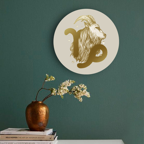 Golden Capricorn Canvas