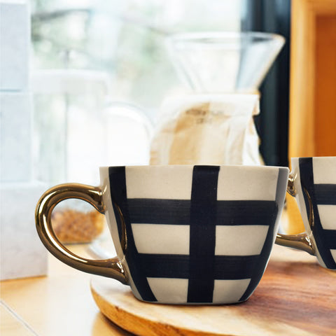 Bohemian Checkered Tea Cup