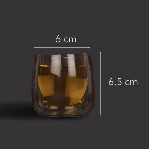 Minimalist Double Walled Clear Glass