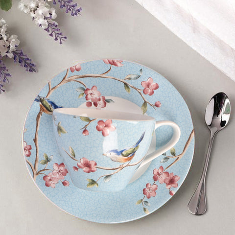 Azure Ixora Teacup and Saucer (Set of 6)