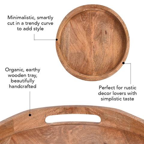 Minimalist Curve Wooden Serving Tray