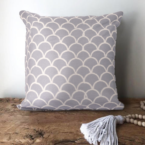 Bohemian Grey Scale Cotton Cushion Cover