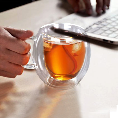 Minimalist Double Walled Bubble Teacup - The Artment