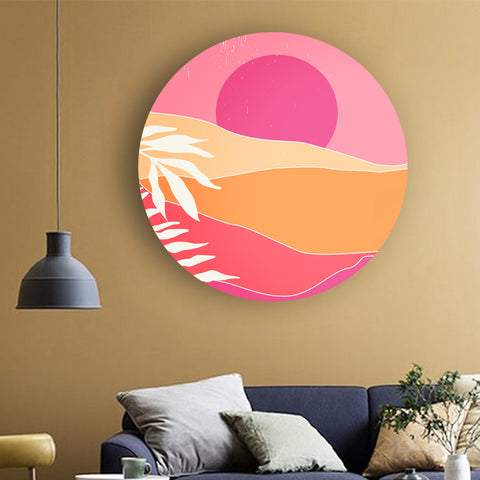 Hues of Pink Landscape Canvas