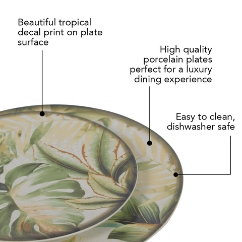 Tropical Trip Plate Set (Dinner and Quarter Plate)