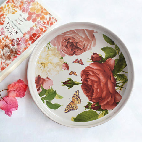 English Scarlet Floral Chip and Dip Set - The Artment