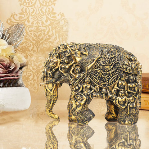 Carved for Rusticity Elephant Table Accent