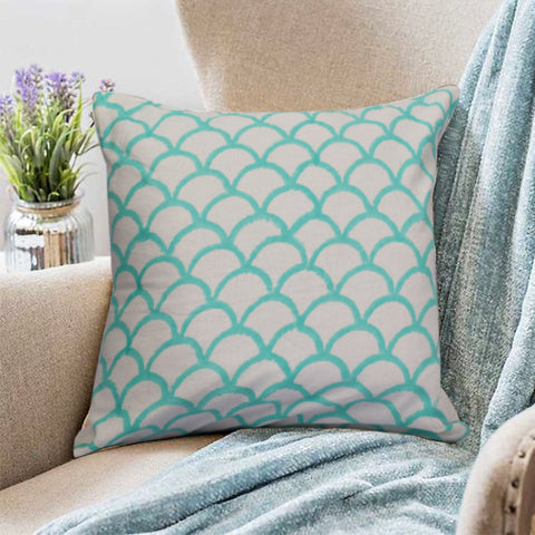 Bohemian Teal Cotton Cushion Set