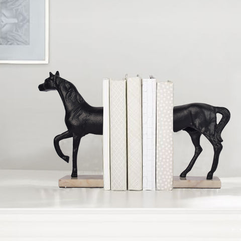 Onyx Horse Bookend