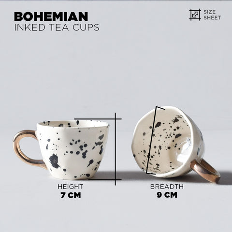 Bohemian Inked Tea Cups - The Artment